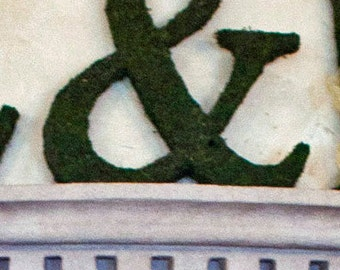 Moss Covered Letter Ampersand ( & ) - Wedding or Engagement Photo Shoot Prop ( 18 inches )