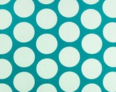 Turquoise Mod Dot and Gray Minky Boppy Cover
