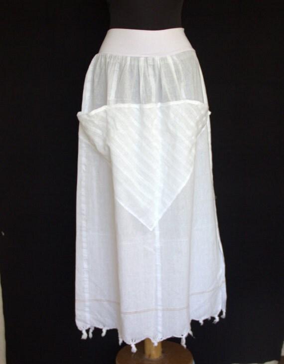 White Skirt Long Cotton Skirt.