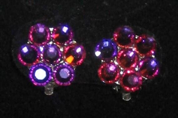 Swarovski Crystal Rhinestone Clip on Earrings