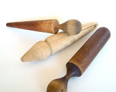 Vintage Wood Pestle Wooden Masher Farmhouse Kitchen Primitive assortment of 3
