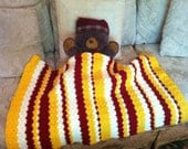 Red White and Yellow Baby Blanket
