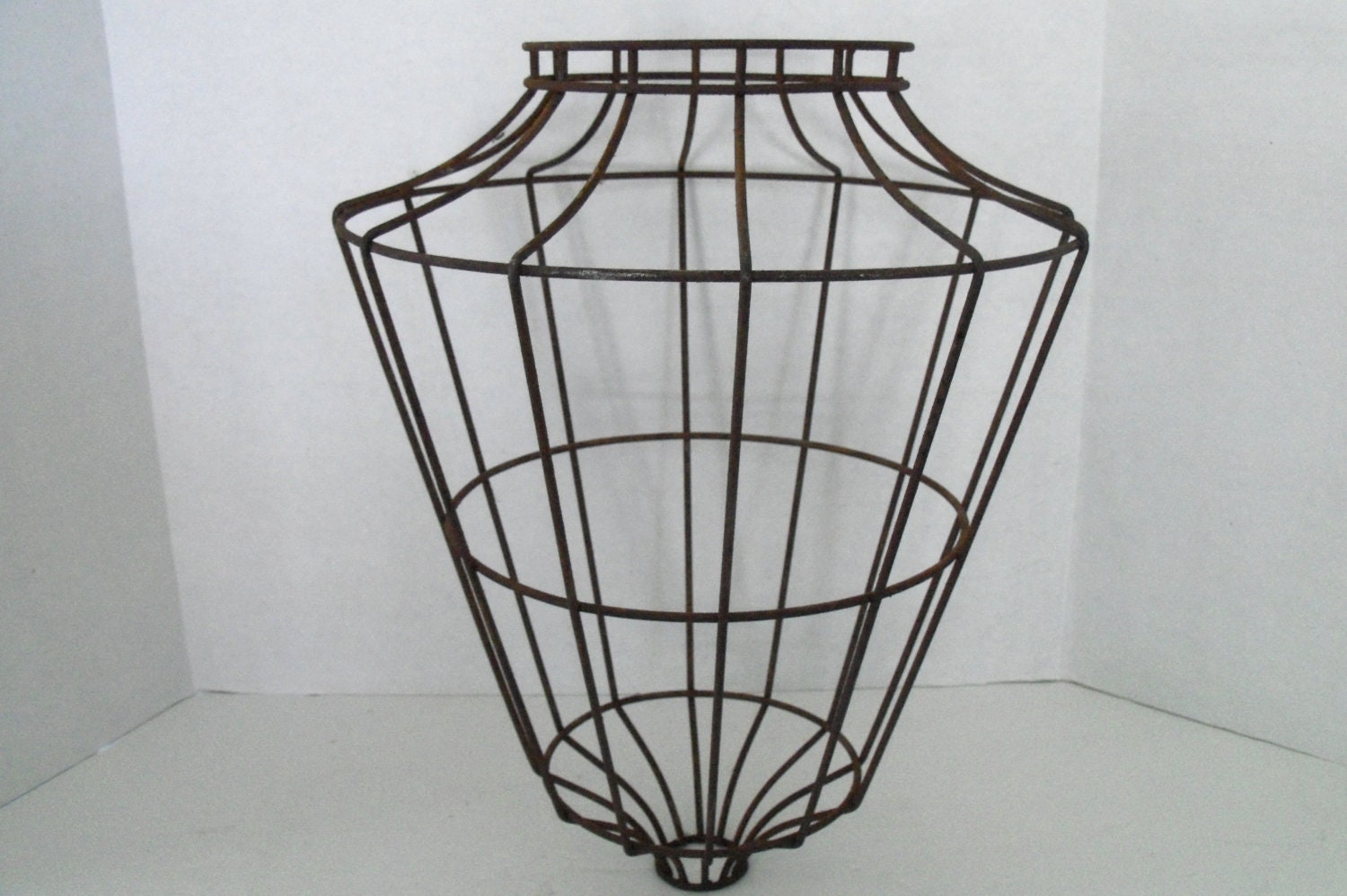 Vintage Industrial Wire Cage Metal Light Shade Cover