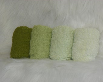 Photography Props...Hand Dyed Cheesecloth Wraps...Baby Photo Props...Green Wraps