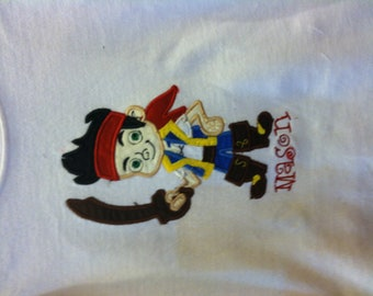 Jake and the neverland applique shirts
