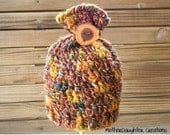 Baby hat - 3-6 months - fall colors - OOAK