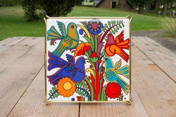 Vintage Acapulco trivet by Villeroy and Boch - trippin on the table