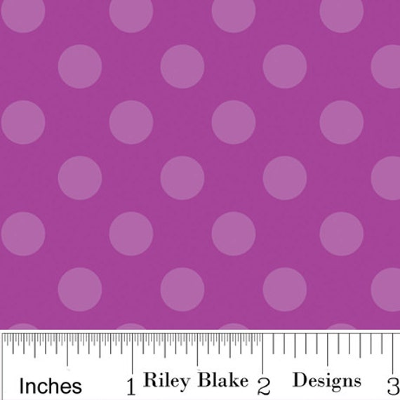SALE...Trick or Treat...Purple Dot...1 yard...Riley Blake Designs