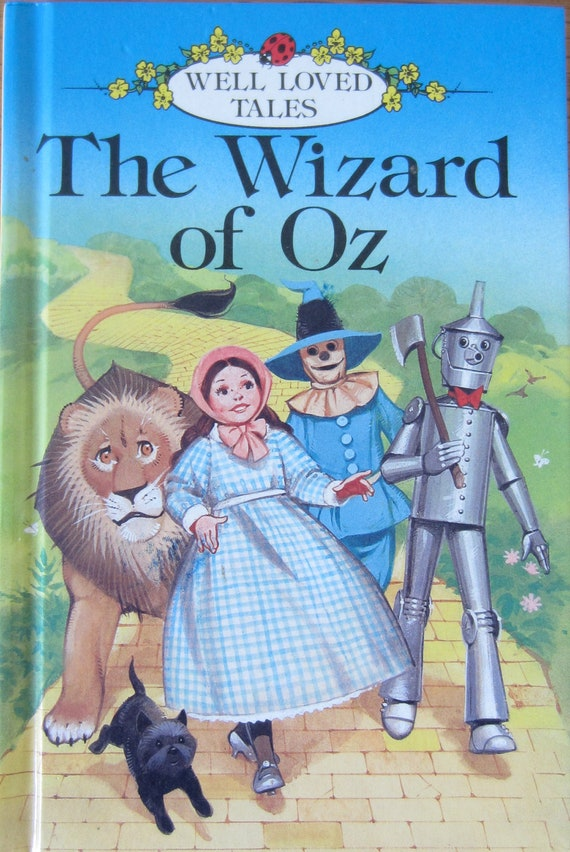 The Wizard of Oz, Vintage ladybird book, Well loved tales, kids story book, 1984, good condition