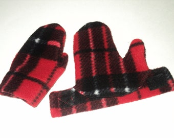 Baby Mittens - Fleece Mittens - Made To Order -Easy Wrap Stay On Mittens For Baby And Toddler - Baby Boy Mittens - Baby Shower