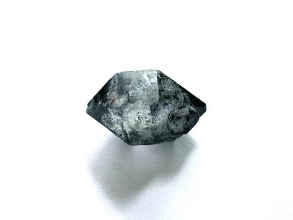 Tibetan Black Quartz Double Terminated 2 Rough Raw Crystals (Lot No. 150)