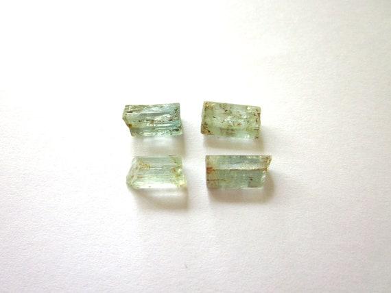 Blue Tourmaline Rough Raw 4 Stones 10-12mm - 12.5 carats (Lot no. 791)