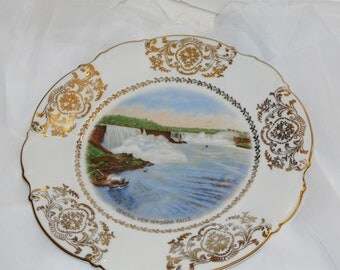Niagara Falls Souvenir Plate Vintage