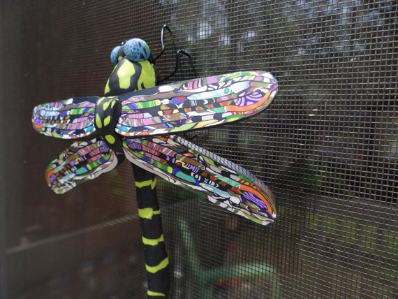 Dragonfly Art Dragonfly Sculpture Bug Sculpture Insect Sculpture Insect Art Dragonfly Ornament (DRGN-0001)