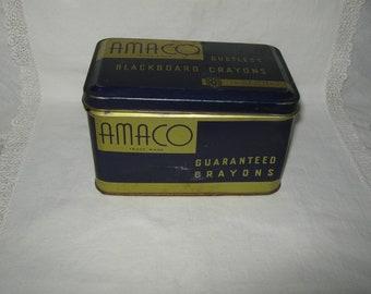 Amaco Blackboard Crayons Tin Chalk Tin