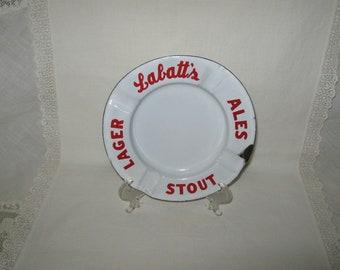 Labatts Advertising Ashtray Enamelware Porcelainware