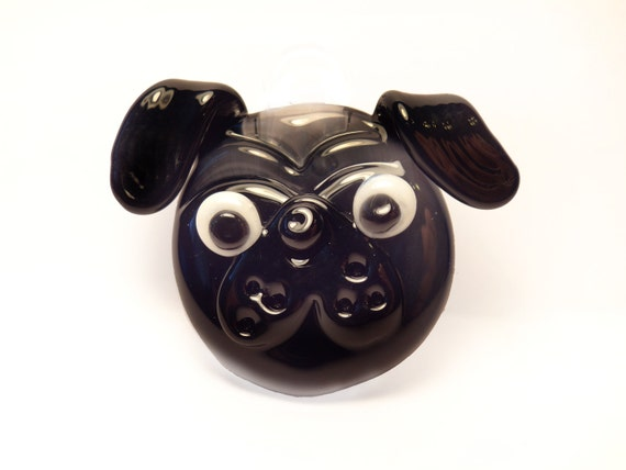 Glass Black Pug Pendant