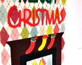 Stockings Hung by the Chimney Christmas Card