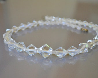 Necklace Crystal Glass Bead Clear Cone Shaped