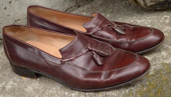 80's Trump Empire Designer Ferragamo Tasseled Loafers 9.5