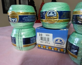 DMC Cebelia Light Green crochet thread size10
