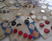 Vintage button lot 28 cards full assorted sizes colors