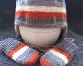 Hand Knitted hat and FREE mittens (Made to order)