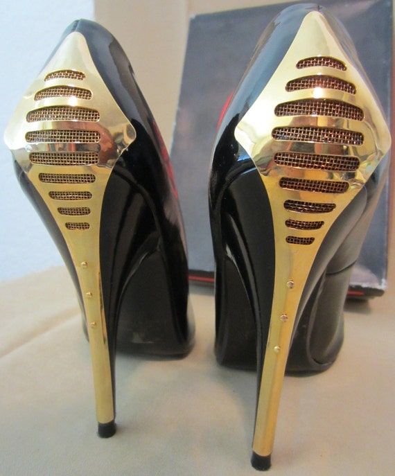 RESERVED for Anna - Vintage 80's Gold Plated Stilettos by The Wild Pair