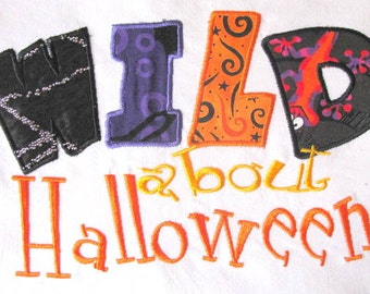 Wild About Halloween Machine Applique Embroidery Design - 4x4, 5x7 & 6x8