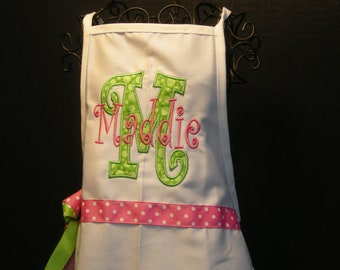 Pretty in Pink Child's Personalized Apron
