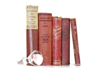Shabby Chic 5 Book Collection Soft Red Vintage  Interior Wedding decor