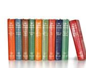 Junior Classics 1938 Popular Edition Rare 10 Volume Set Colorful Vintage Book Decor