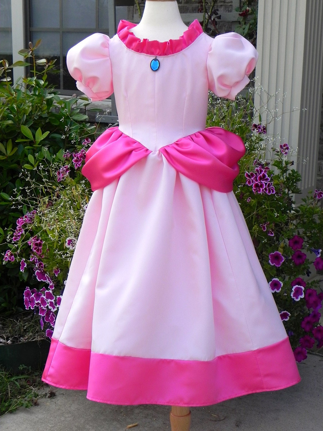 Items Similar To Princess Peach Costume Ball Gown From Super Mario Brothers. Toddler To Size 8 ...