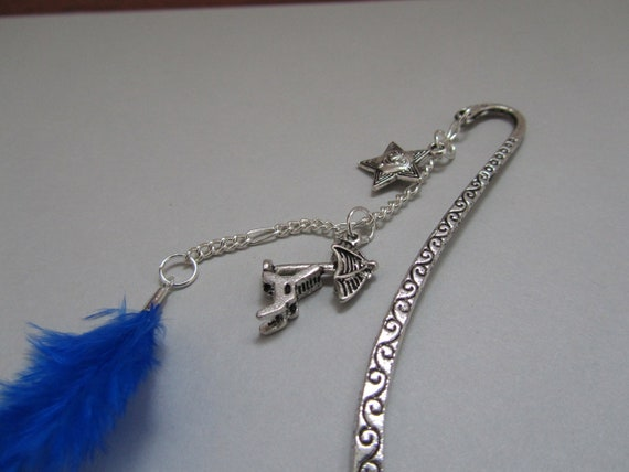 RESERVED:  Blue Feather Bookmark - JENUINE BNR
