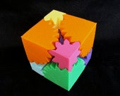 Mechanical Toy Gear Cube 3D Printed - CarryTheWhat
