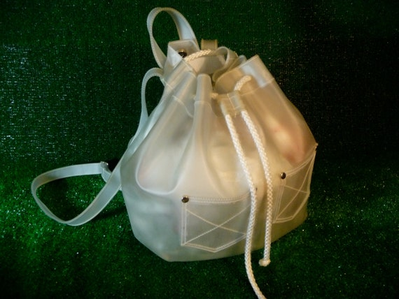 Translucent Clear White Backpack 90s Club Kid Spice Girls