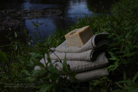 Linen Bath Towels Set of 4