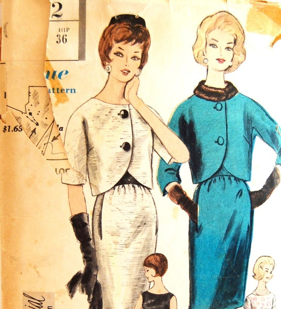 "Vintage 1960s Vogue Special Design Misses' Dress and Jacket Pattern 4292 Size 14 (34"" Bust)"