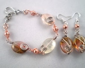 """Bracelet - Matching Watermelon Tourmaline Earings and Bracelet """"RESERVED"""""""