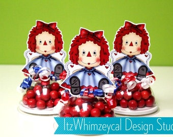Ragedy Rag Doll Inspired Candy Favor Containers