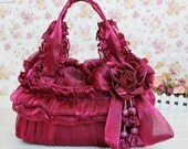 Fabulous lady handmade bag royal wine red
