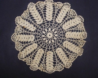 MARVELOUS SMALL LACE Tablecloth For A Small Table - Or Large Lace Doily -  Hand Crochet Lace - Decorative Table Centerpiece Doily