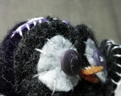Purple and Grey Owl plush - felted wool