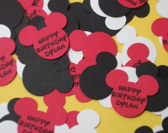 Personalized Mickey Mouse Confetti/Embellishment/Die Cuts