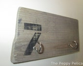 Number Seven Beach Chic Key Hook Upcycled barn wood and driftwood key hangers for the home. Shabby chic decor