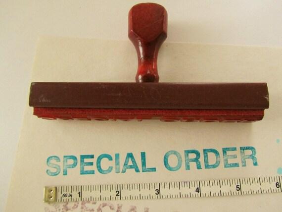 Reserved for JV Rubber Stamp SPECIAL ORDER