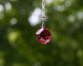 Swarovski Crystal Suncatcher-Small Red Sphere