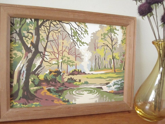 Vintage Woodland Paint-by-Numbers Scene
