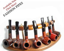 New Tobacco Pipes Rack Stand  FOR 7 PIPES, Hold Case Display/Wood Pipe Rack NEW....Best Pipes Showcase in Fashion Pipes