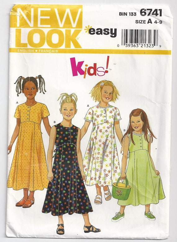 Girls Size 4 To 9 Unused Simplicity New Look Sewing Pattern